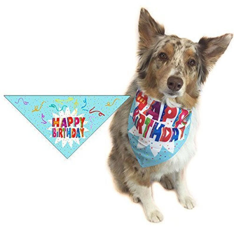 Happy Birthday Dog Bandana Small Dogs Scarg