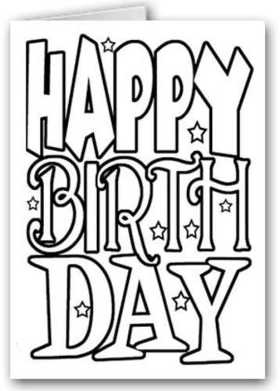 Happy Birthday Kid Set Of Coloring Greeting Cards 24020a