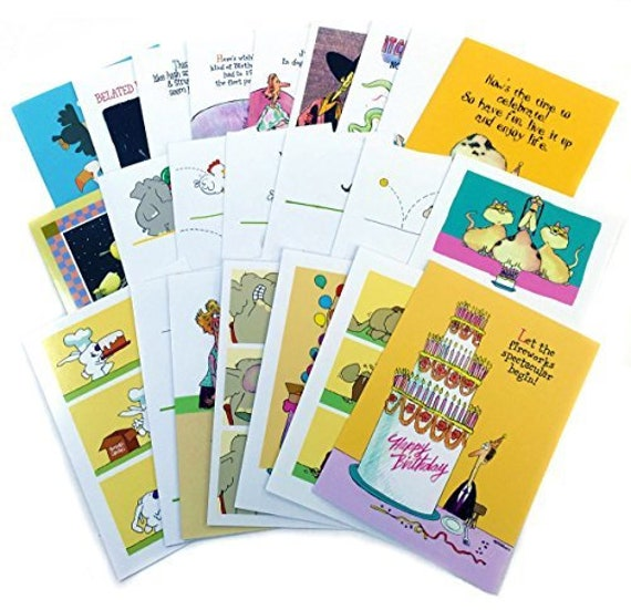 Birthday Card Assorted Humorous Value Pack Of 24 Cards 25