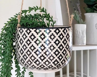 Ceramic Hanging Plant Pot, Planter Modern Indoor Outdoor , Plants, Home Decor