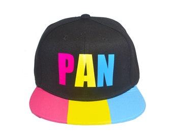 Pansexual Pride Snapback Hat - Pansexual Hat, Pansexual Flag, Pan Hat, Pan Pride, Gifts for Pansexuals, LGBT Gifts, Pan Pride Hat