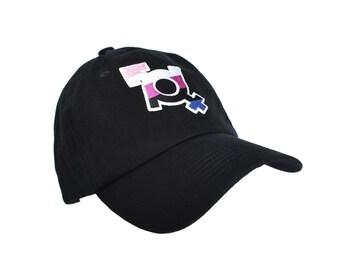 Genderfluid Dad Hat, Fluid Hat, Genderfluid Pride, Genderfluid Gift, Trans Gifts, Subtle Genderfluid, LGBT Hat, Queer Hat, Pride Hat, LGBTQ