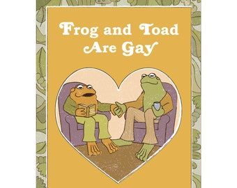 Frog and Toad Shirt, Gay Frog Shirt, Pride Frog, LGBT Frogs, Nonbinary Frog, Subtle Gay Shirt, Cottagecore Shirt, Frog and Toad Police
