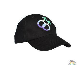 Gay Hat, Gay Man Hat, Gay Male Pride, Gay Pride, Gay Male Gift, Gifts for Gay Men, Subtle Gay, LGBT Hat, Queer Hat, Pride Hat, LGBTQ Hat