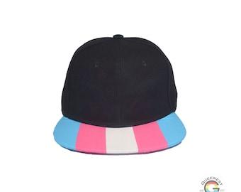 Discreet Textless Pride Hat, Subtle Transgender Pride, Subtle Bisexual, Queer Accessory, LGBTQ Gifts, Rainbow Hat, Pride Flag Hat