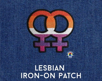 Lesbian Patch, WLW Symbol, Iron on Patch, LGBTQA+, Gift for Lesbian Daughter, Lesbian Accessory, Lesbian Pride Patch, Sapphic Patch