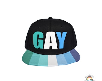 Gay Male Snapback Hat, MLM Pride, Gay Pride Hat, LGBTQ Accessories, Male Loving Male, Gift for Gay Man, Gift for Gay Son, Queer Pride Hat