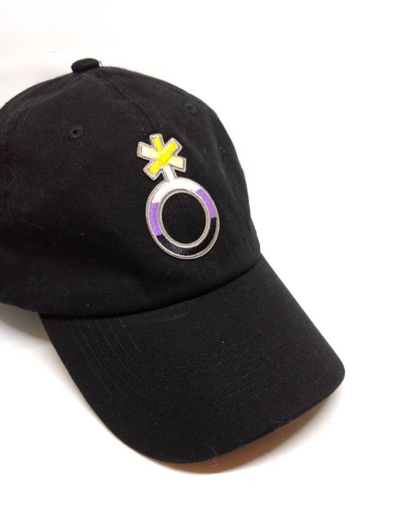 Dad Hat Nb Pride Symbol Nonbinary Pride Iron On Patch Lgbtqa Etsy