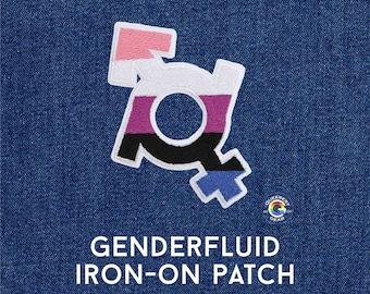 Genderfluid Patch, Genderfluid Symbol, Iron on Patch, LGBTQA+, Gift for Genderfluid Kid, Genderfluid Accessory, Genderfluid Pride Patch