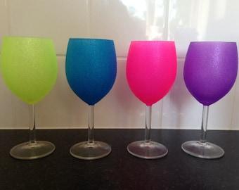 Summer wine glasses | Etsy