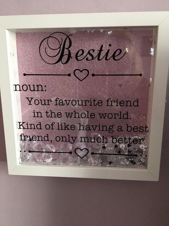 best friend frame light box light up frame gift present Bestie box frame