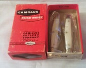 Rare - Camillus 2 Blade Jack Knife in Original Red Retail Storage Box