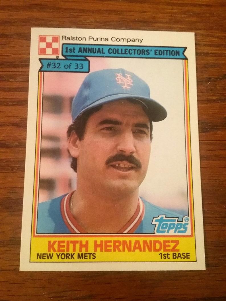 1984 Topps Ralston Purina Company Baseball Card Keith Hernandez Card 32 Of 33