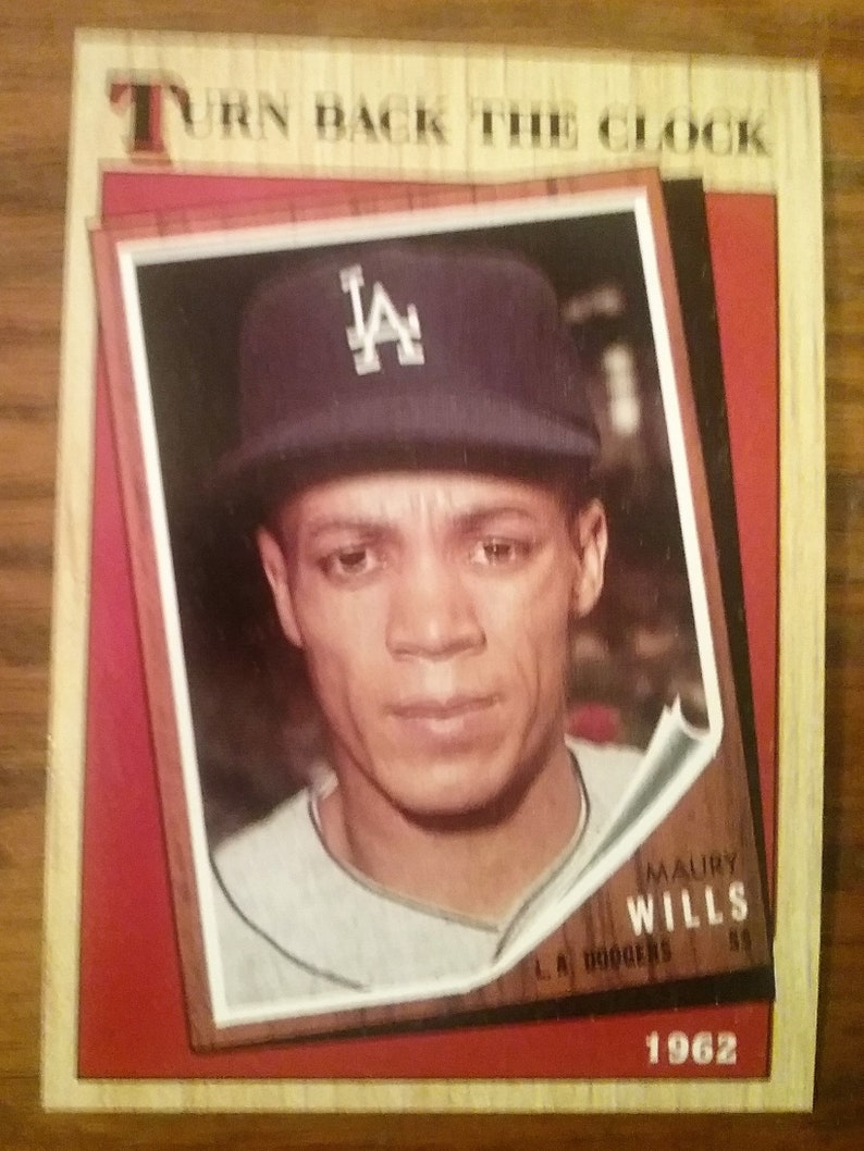 1987 Topps Baseball Card Maury Wills Turn Back The Clock Card 315
