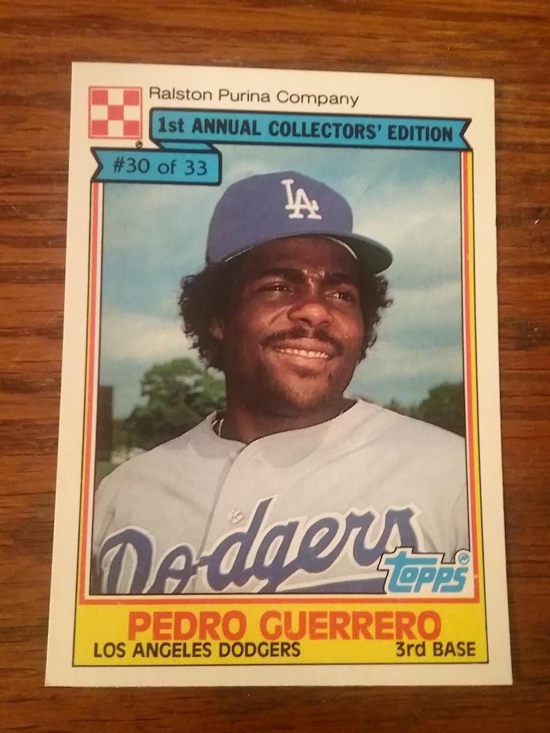 1984 Topps Ralston Purina Company Baseball Card Pedro Guerrero Card 30 Of 33
