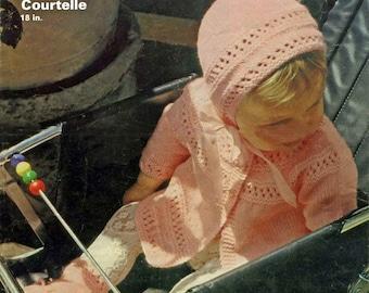 "PDF Patons Knitting Pattern #2429, 5Ply, Sz18"" Pretty As a Rosebud Jacket Cardigan"