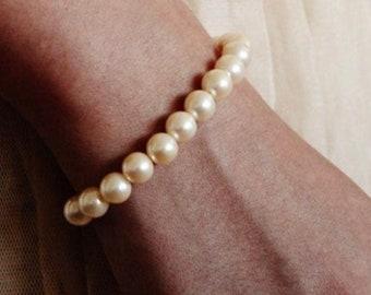 Classic Wedding Bracelet, Pearl Bracelet, Bridesmaid Bracelet, Pearl Bracelets For Women, Bridesmaid Gifts, Charm Bracelet B108