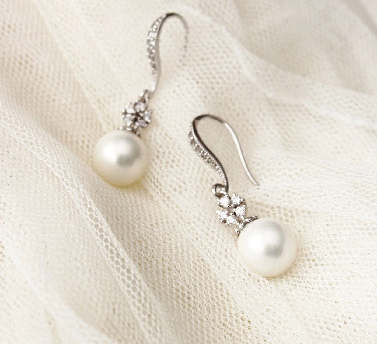 pearl jewelry freshwater pearl earrings drop earrings mother/'s day jewelry bridal earrings gifts for her Pearl Earrings