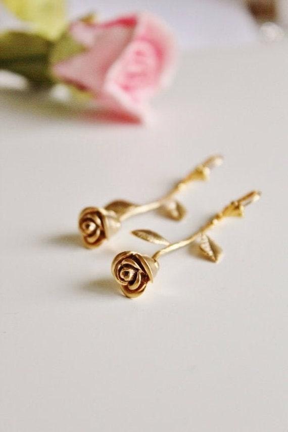 heart earrings bridal earring valentine/'s day rose gold wedding valentines gift rose gold earrings soutache earrings wedding earrings
