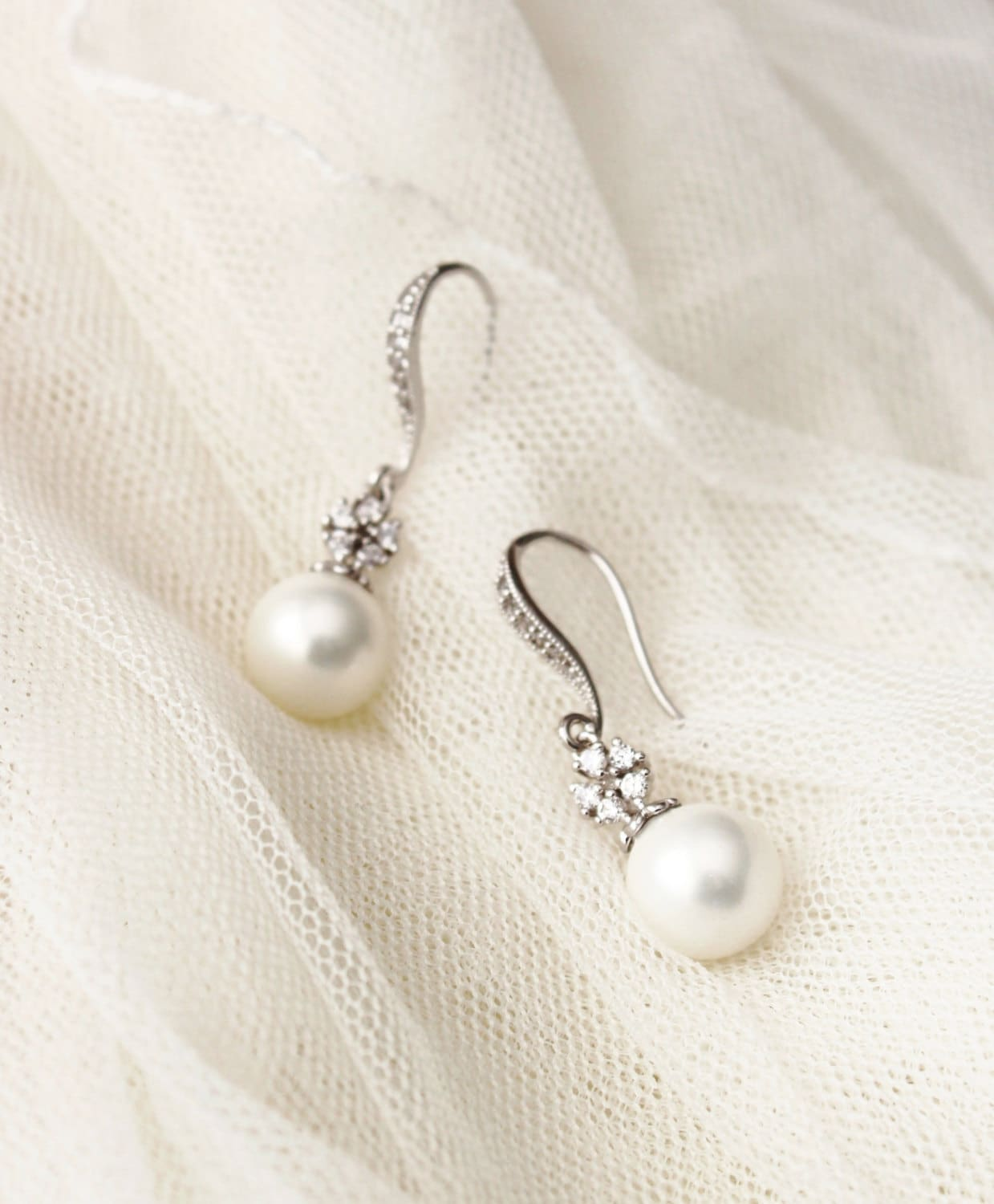 Bridal Earrings Drop Pearl Earrings Wedding Jewelry Bridesmaid
