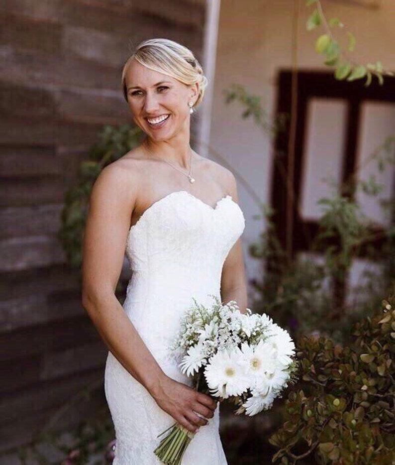 Bridal Jewelry Set Pearl Wedding Jewelry Set Bridesmaid Gift White/ Ivory