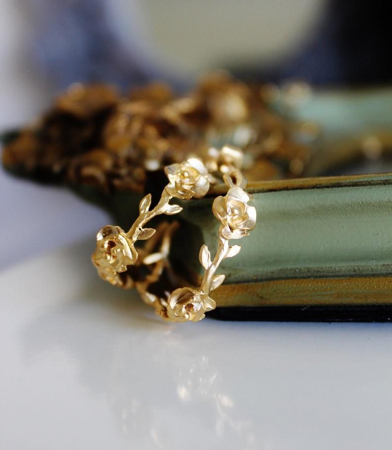 Rose Hoop Earrings Gold Rose Earrings Gold Hoop Earrings Gold