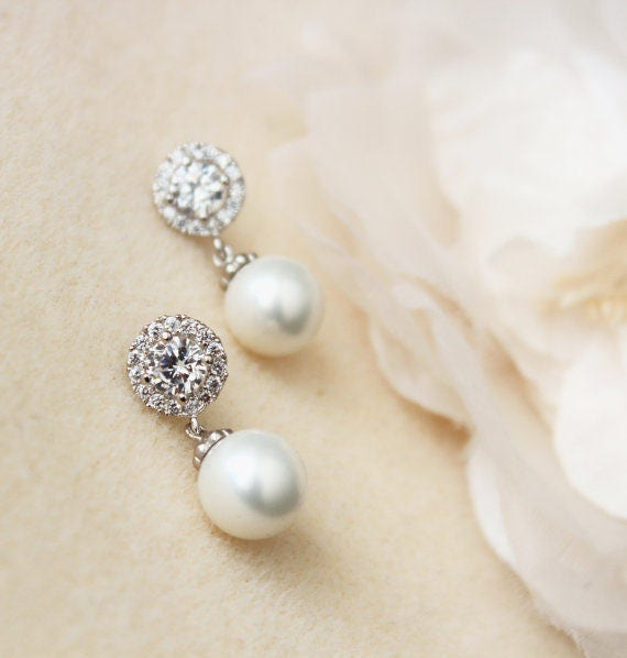 Bridal Earrings Pearl Earrings Wedding Jewelry Bridesmaid