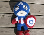 Captain America Avenger Plushie - made to order