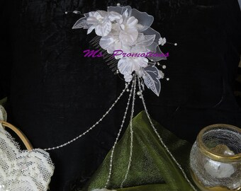 Bridal Comb Bridal Fascinator Vintage Wedding Crystal Hair Veil Attachment