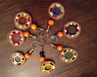 African key ring multi coloured key ring