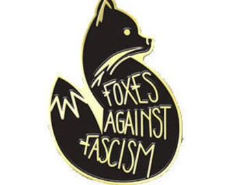Foxes Against Fascism Soft Enamel Pin