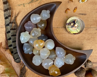 Agate Acorn « Crystal Acorn « Magical Acorn Stone « Agate Acorn Crystal « Stone Acorn » Fall Crystal Decor » Fall Decor » Witchy Gifts
