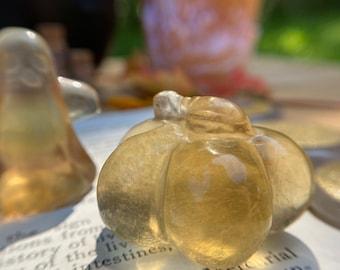 "Yellow Fluorite Pumpkin » 1.5"" Juicy Yellow Fluorite Pumpkin » Beautiful Polished Yellow Fluorite Pumpkin"