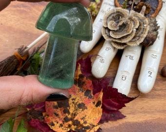 Green Fluorite Mushroom « Teal Fluorite Crystal Mushroom « Green Mushroom Crystal « Fluorite Mushroom Stone « Stone Mushroom
