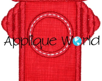 Water Hydrant Applique Embroidery