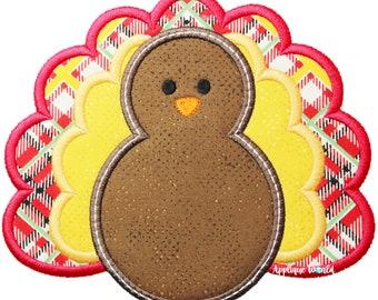Turkey Applique Embroidery, Thanksgiving Turkey Applique, Turkey Machine Embroidery Design, Thanksgiving Applique, Turkey Applique, Turkey