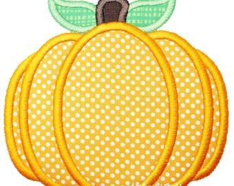 Pumpkin Applique Embroidery, Applique Machine Embroidery Design, Fall Pumpkin Applique, Halloween Applique, Machine Embroidery  Pattern