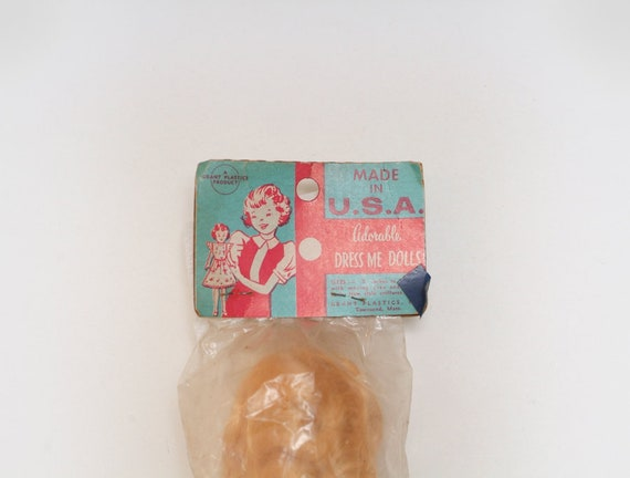 Vintage 1960s Grant Plastics Adorable Dress Me Doll Plastic Toy