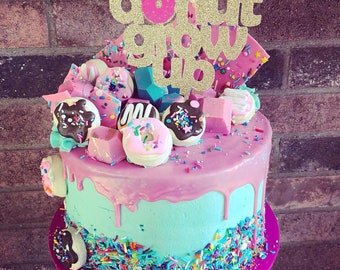 Donut Grow Up Cake Topper Doughnut Birthday