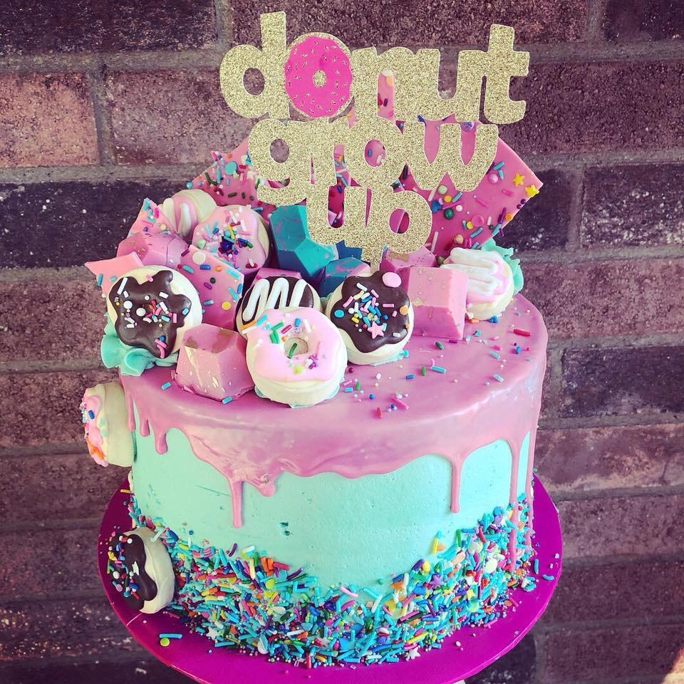 Donut Grow Up Cake Topper / Donut Cake Topper/ Doughnut ...