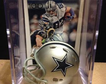 Dallas Cowboys Jason Witten Mini Helmet Shadowbox w/ card