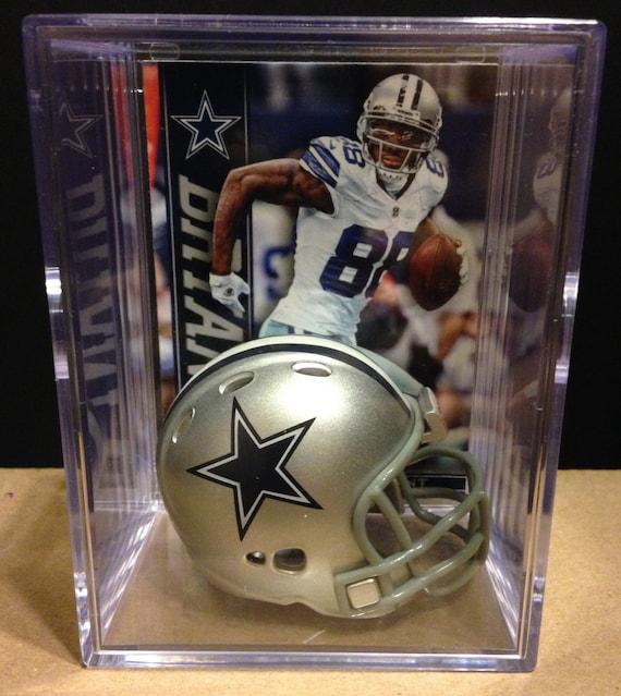 Dallas Cowboys Dez Bryant Mini Helmet Shadowbox W Card