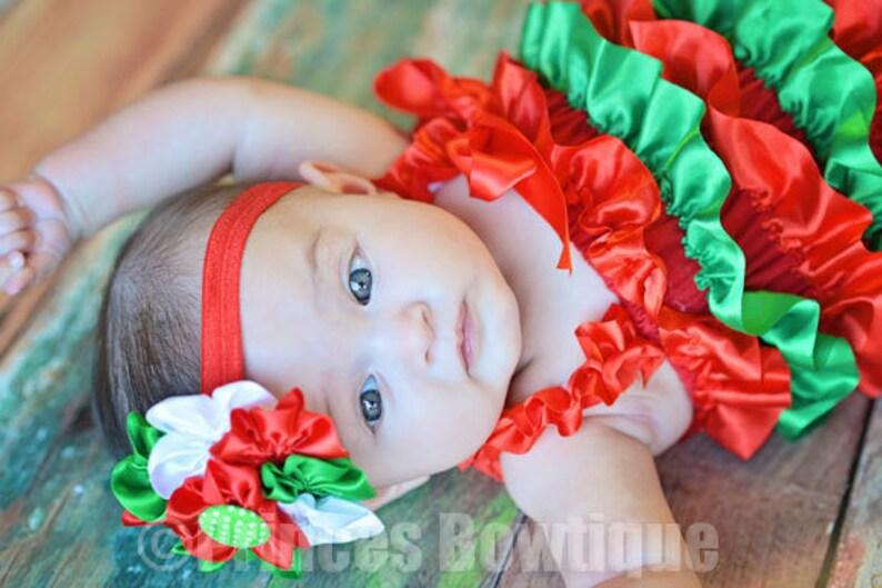 Baby First Christmas Baby Girls Ruffled Baby Baby Christmas Outfit Romper My 1st Christmas Toddler Girls First Christmas Outfit Girl