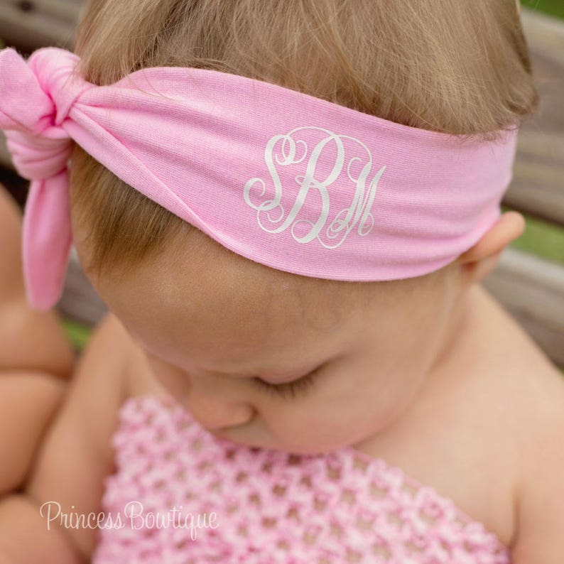 118f884a2135 Monogram Baby Personalized Baby Headband Custom Newborn