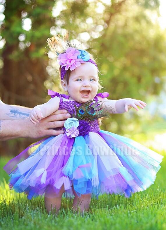 Peacock Blumenmädchen Kleid Kleinkind Mädchen Blume Pfau | Etsy