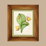 Bread and Butterfly Alice in Wonderland Art Print - Vintage Botanical Disney Through the Looking Glass Garden Lewis Carroll Nursery