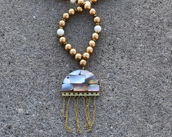 Spring 2018 Mini Collection Jellyfish Necklace - Mother of Pearl