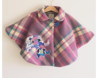 "Girls toddler baby ""little Elle"" cape coat cloak"