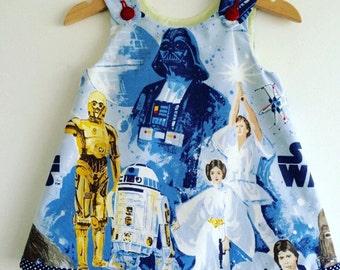 Girl baby toddler dress Vintage Star Wars A line dress