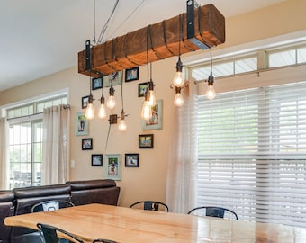 Industrial light.hanging light.chandelier.modern chandelier.industrial lighting.edison.bar lighting.restaurant lighting (Rustic Chandelier)
